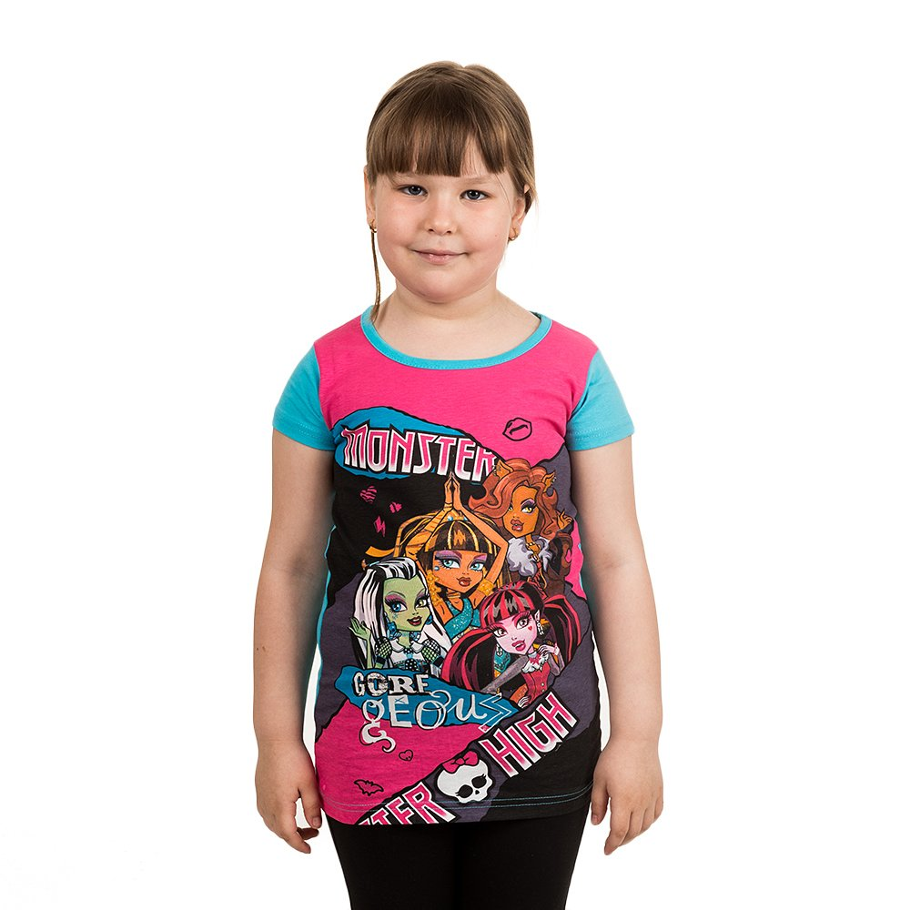Tricou Maneca Scurta Fete Monster High Goregeous Bleu
