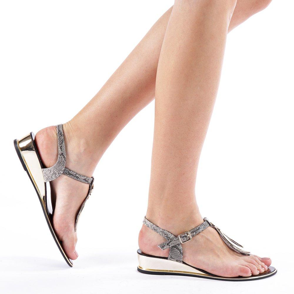 Sandale dama Auricht gri inchis