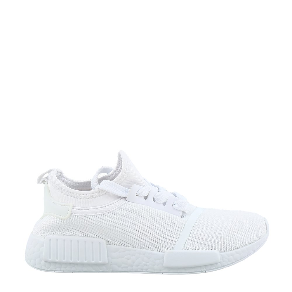 Pantofi sport copii Nigel albi