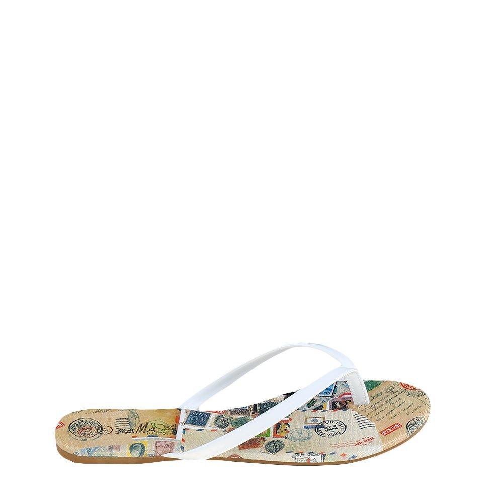 Papuci dama Audriana albi