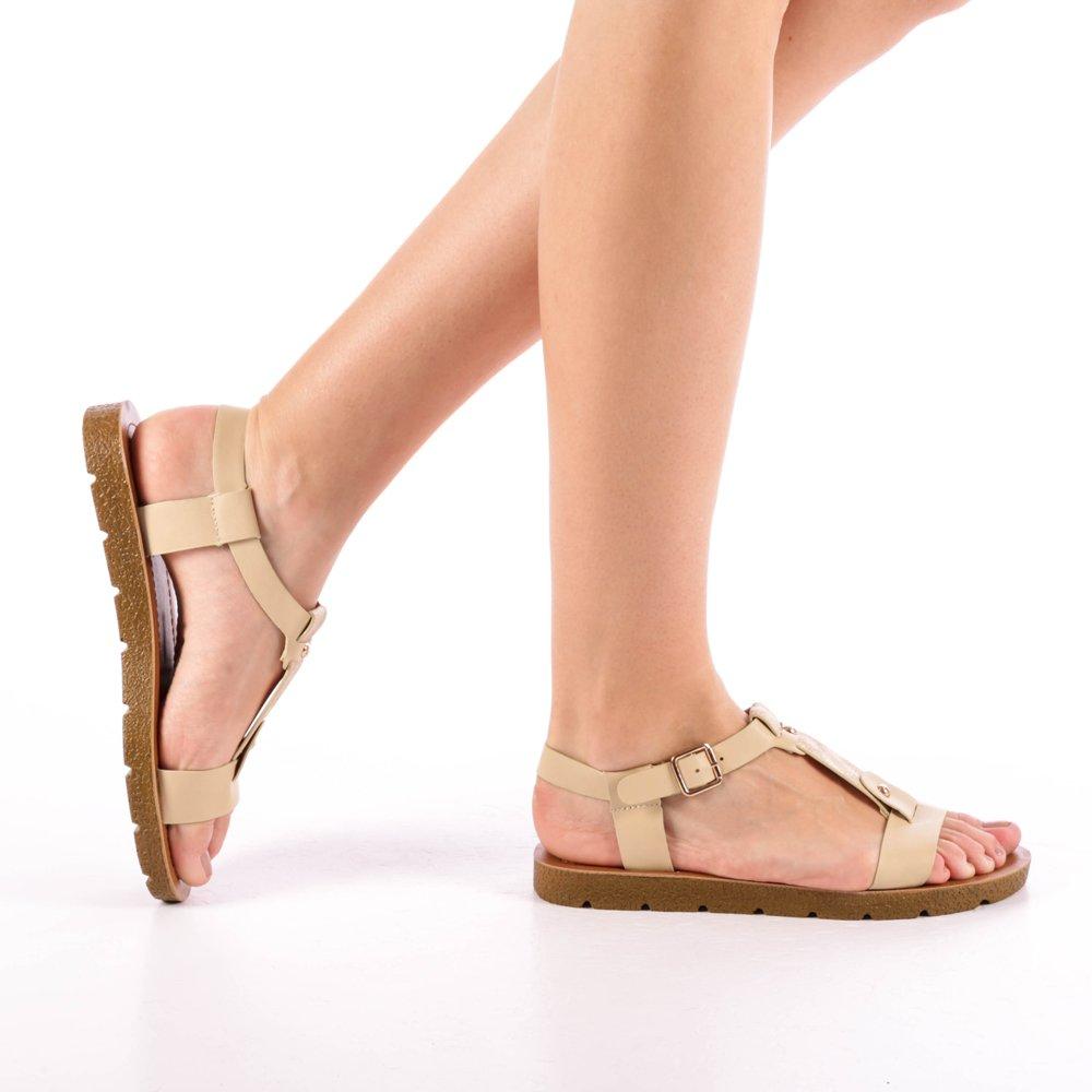 Sandale dama Kristina bej