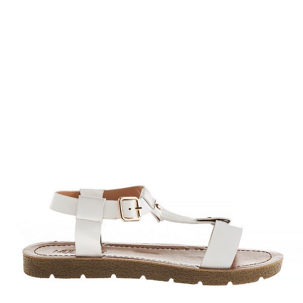 Sandale dama Kristina albe
