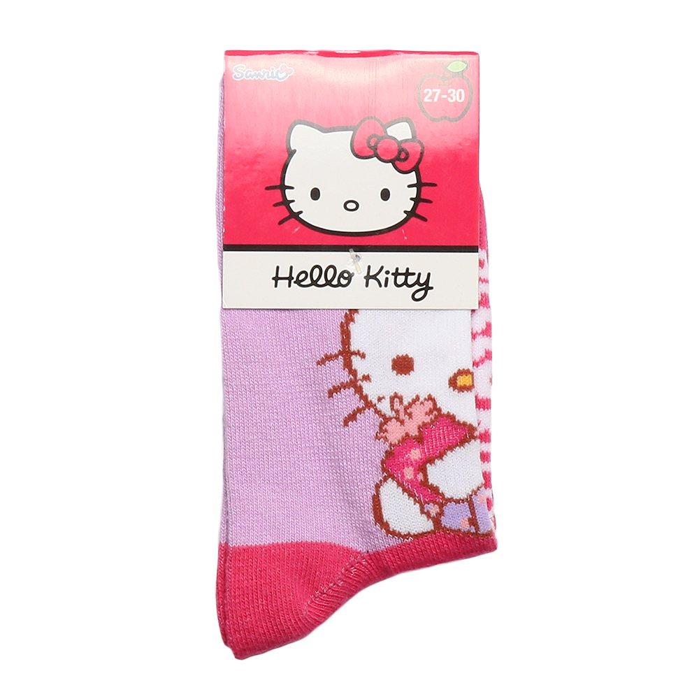 Sosete copii Hello Kitty fucsia cu mov