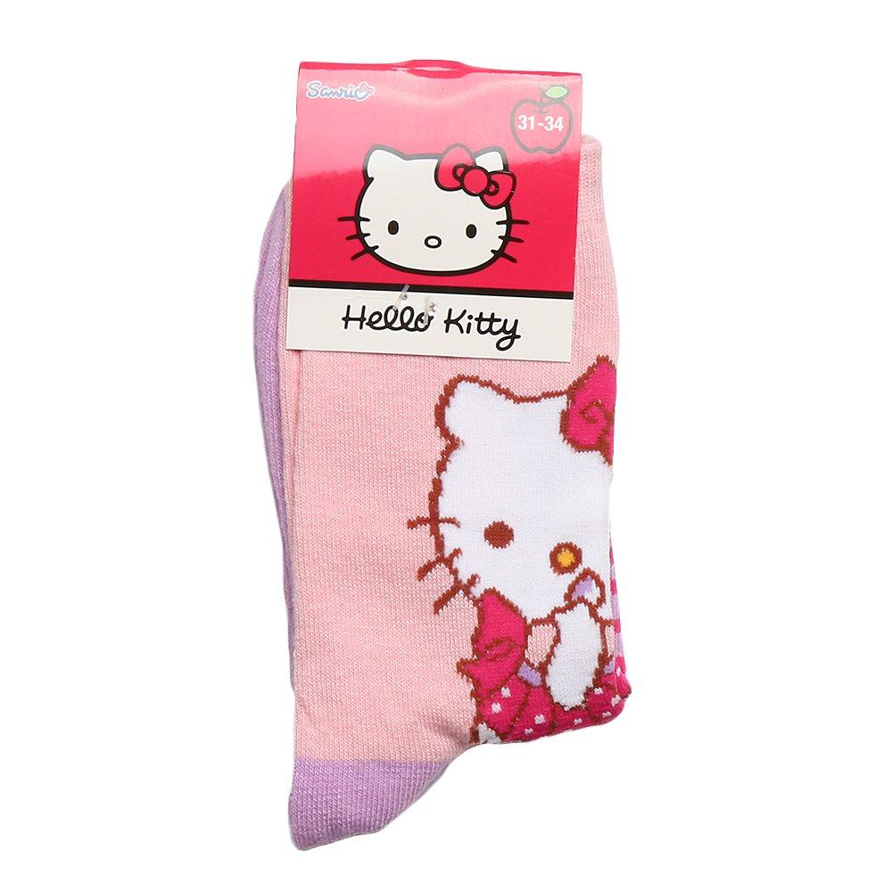 Sosete copii Hello Kitty roz cu mov