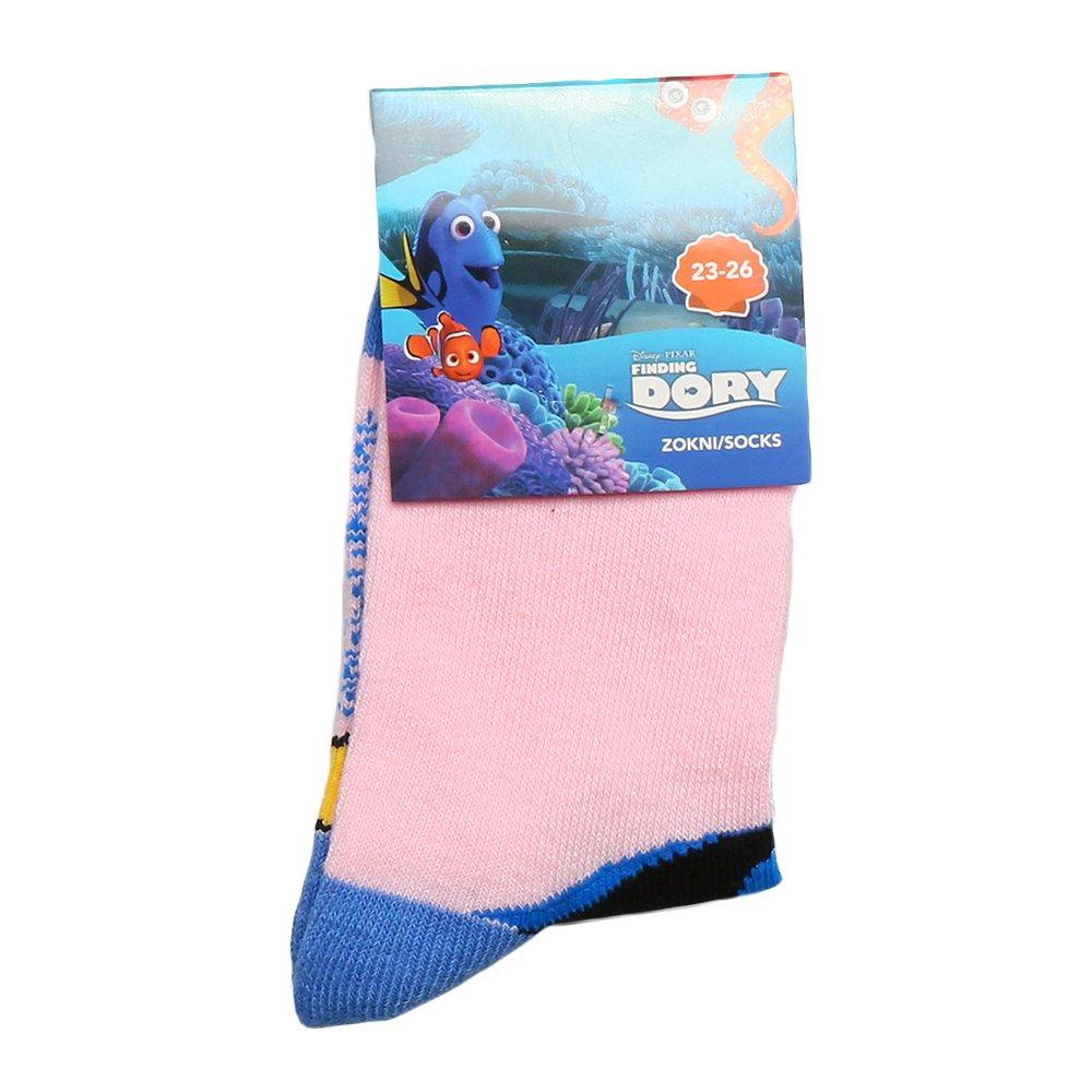 Sosete copii Finding Dory roz cu albastru