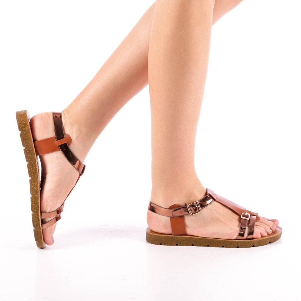 Sandale dama Cotton tan