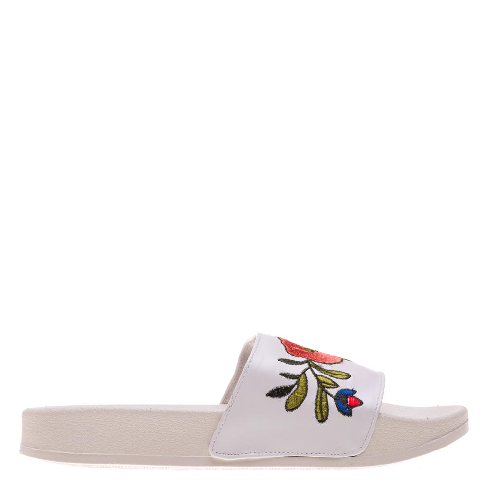 Papuci dama Avva albi