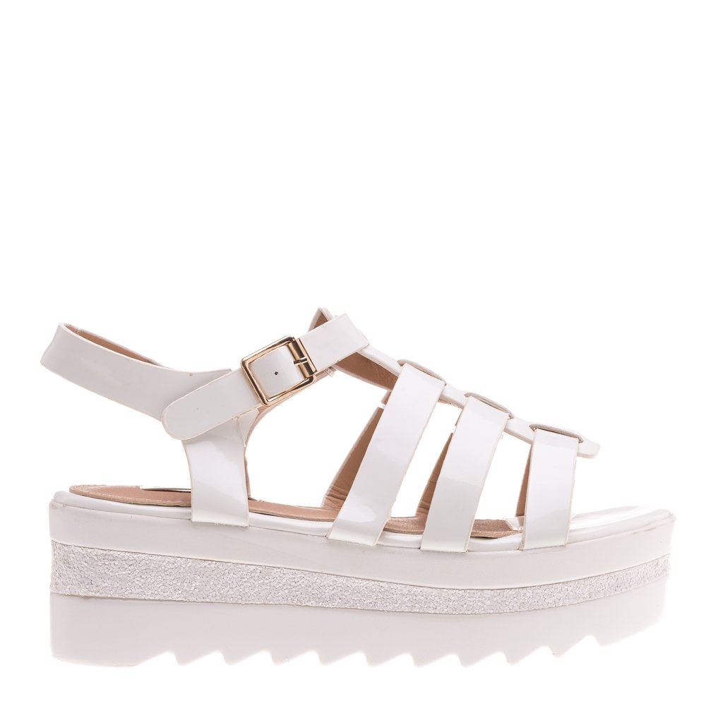 Sandale dama Jordana albi