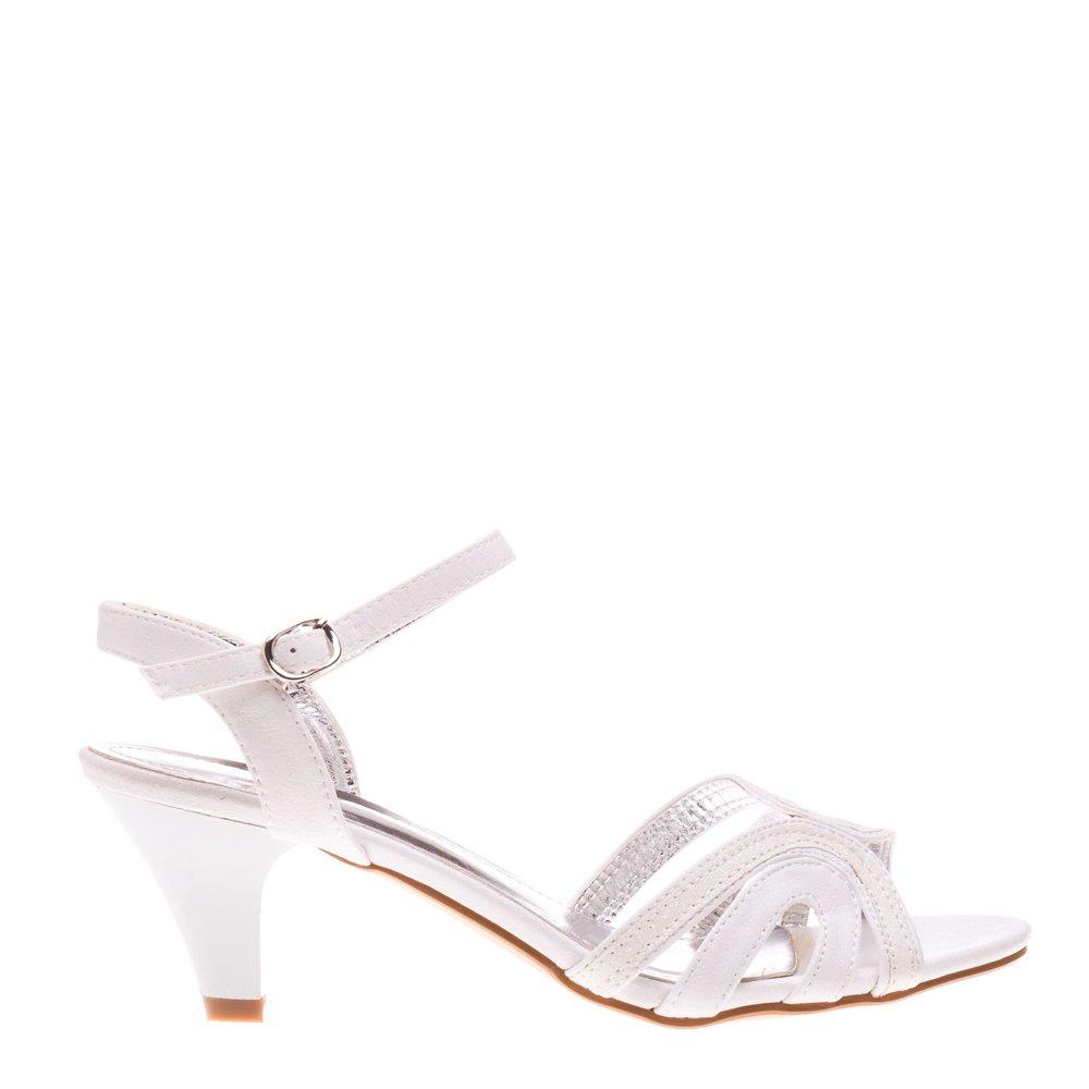 Sandale dama Gillian albe