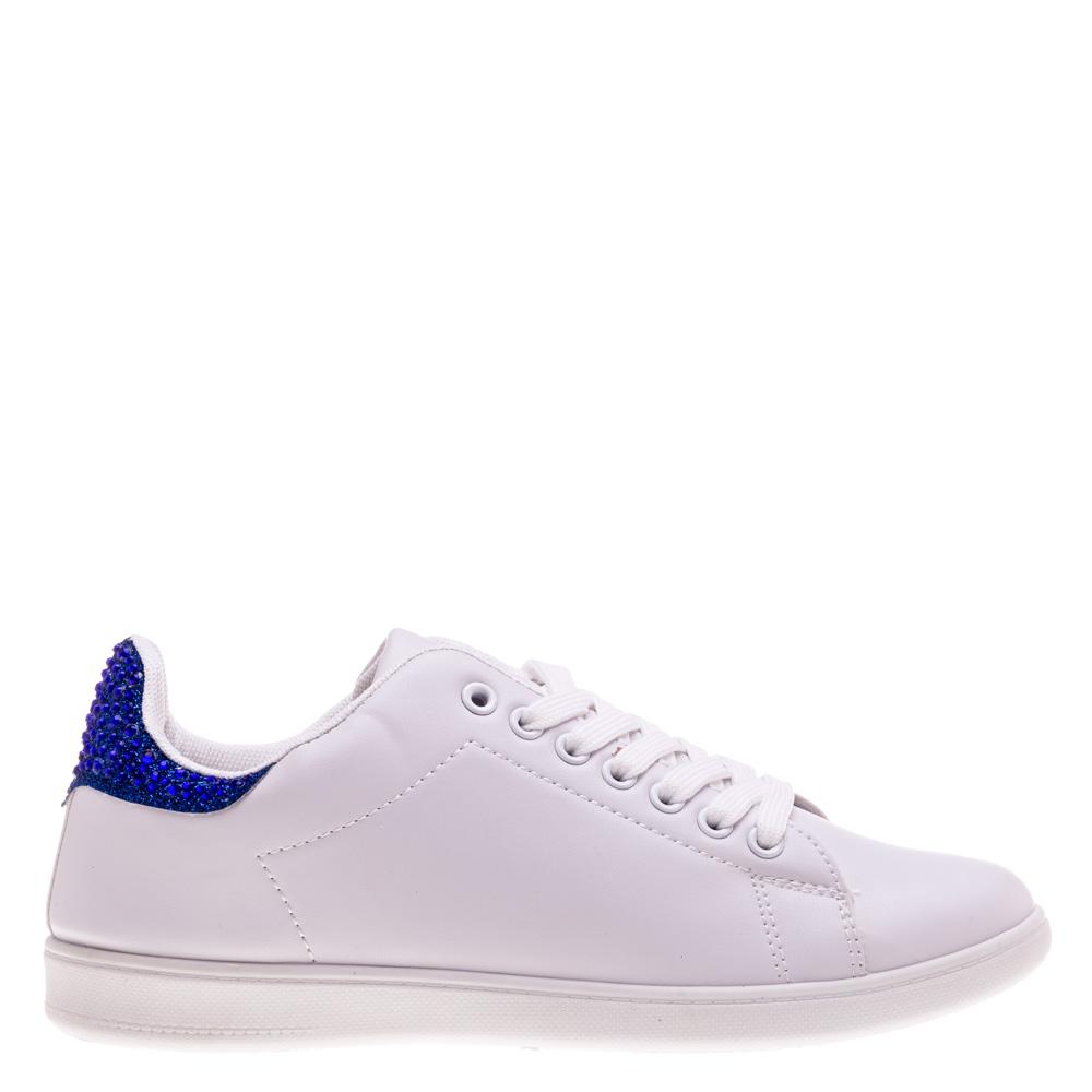 Pantofi sport dama Carolyn albi cu albastru