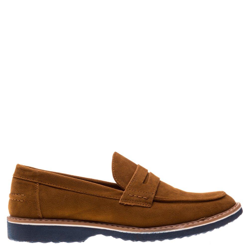 Pantofi barbati Clark camel fara sireturi