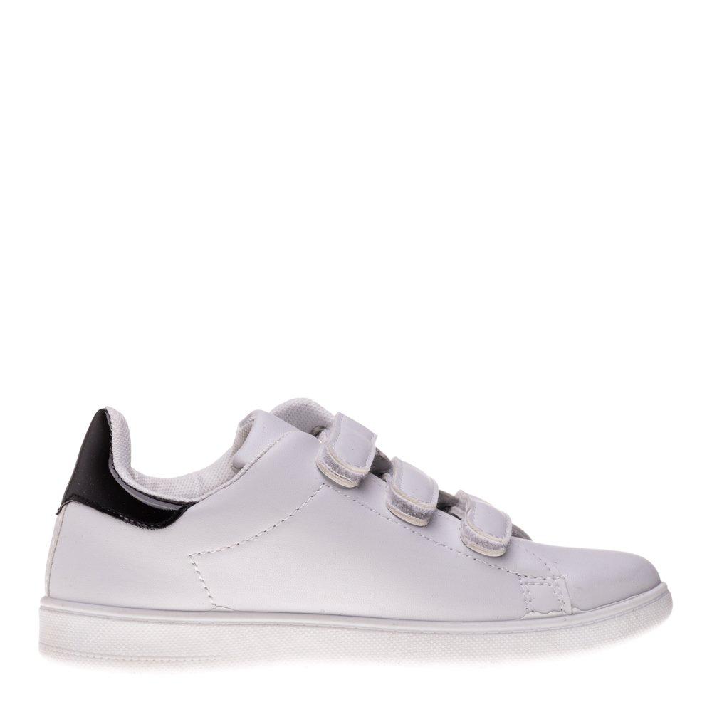 Pantofi sport copii Matei alb negru cu scai