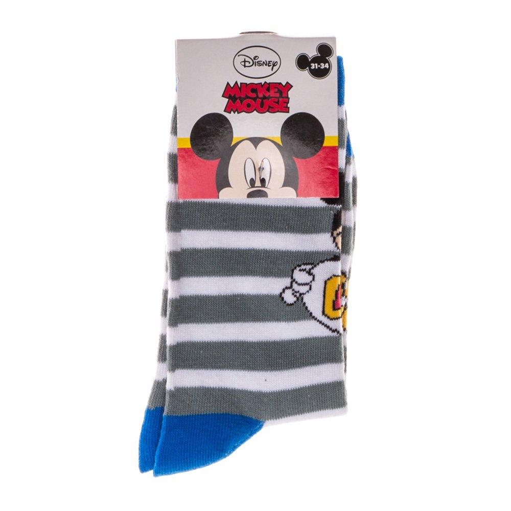 Sosete copii Mickey Mouse albastre cu gri