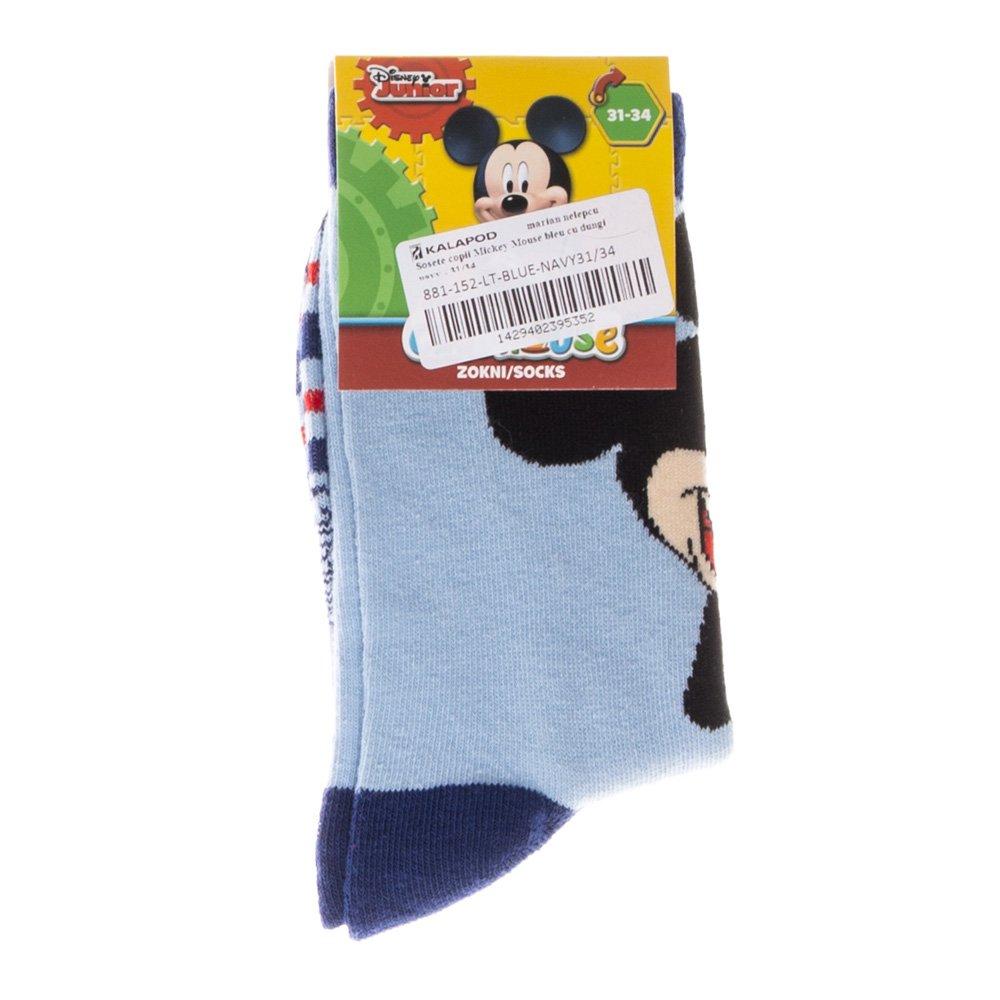 Sosete copii Mickey Mouse bleu cu dungi navy