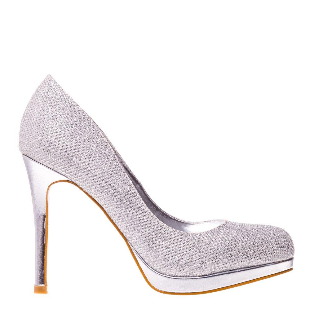 Pantofi dama Lucretia argintii