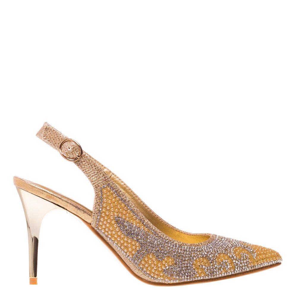 Pantofi dama Jessie aurii