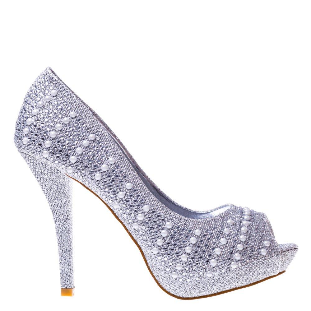 Pantofi dama Pearl argintii