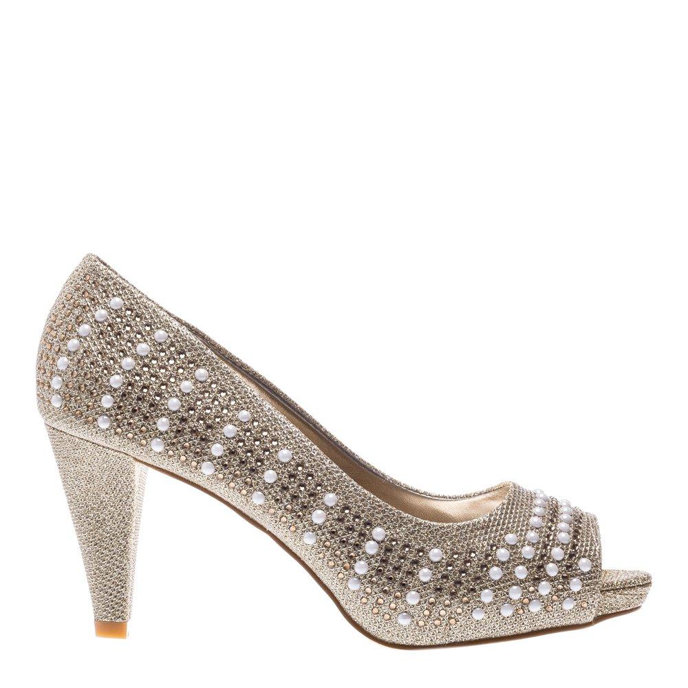 Pantofi dama Marcie aurii