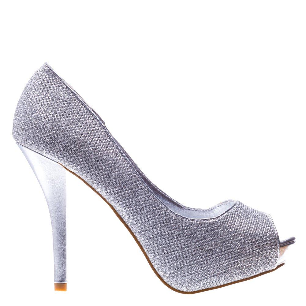 Pantofi dama Susie argintii
