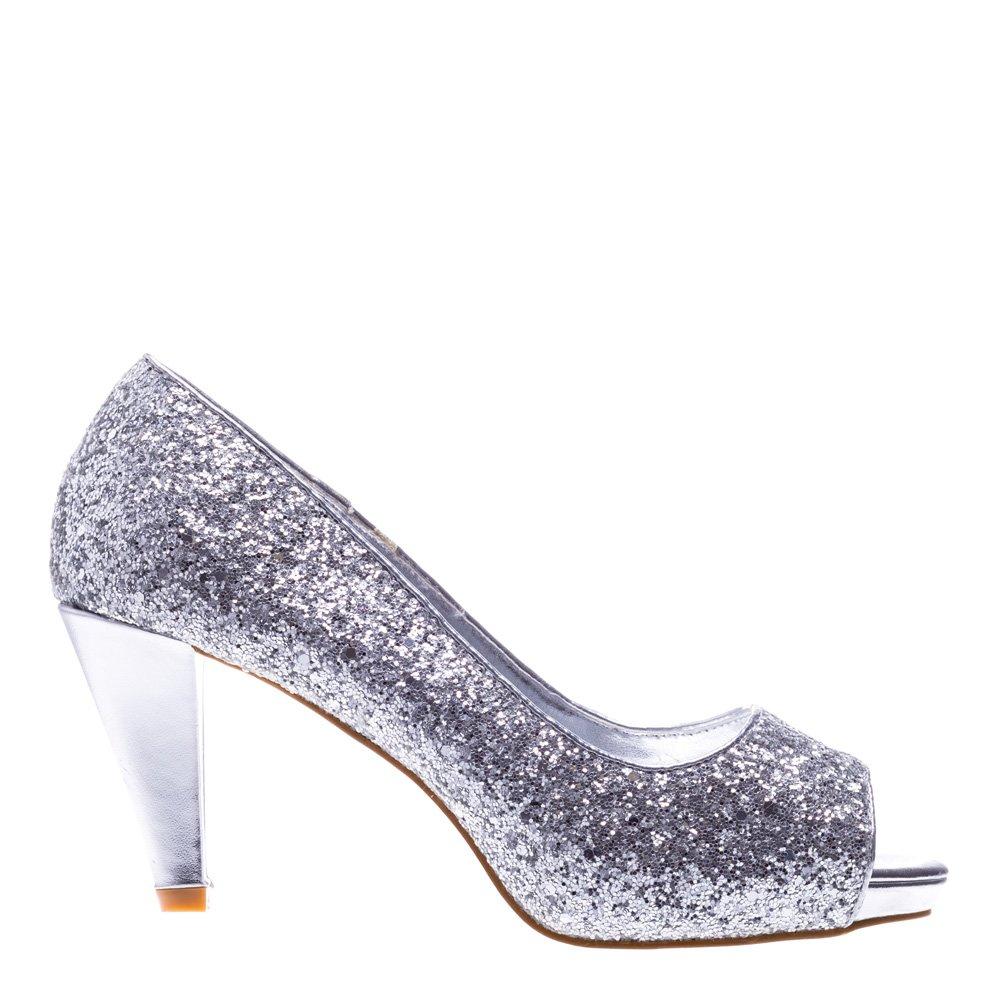 Pantofi dama Indira argintii