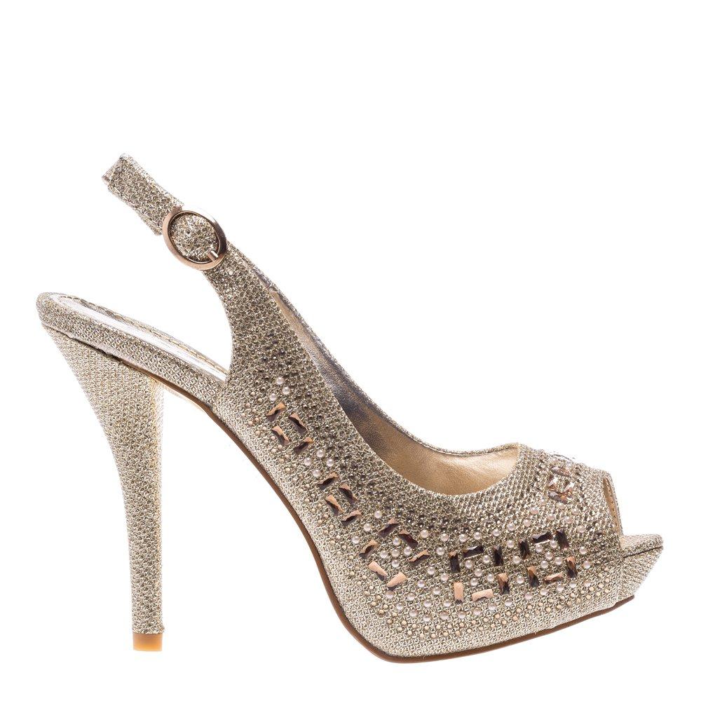 Sandale dama Gratiela aurii