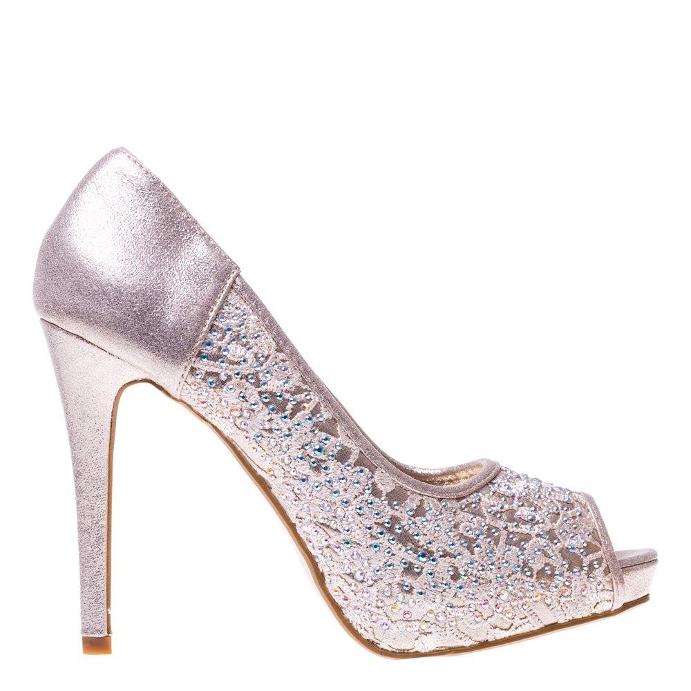 Pantofi cu toc dama Idillia aurii