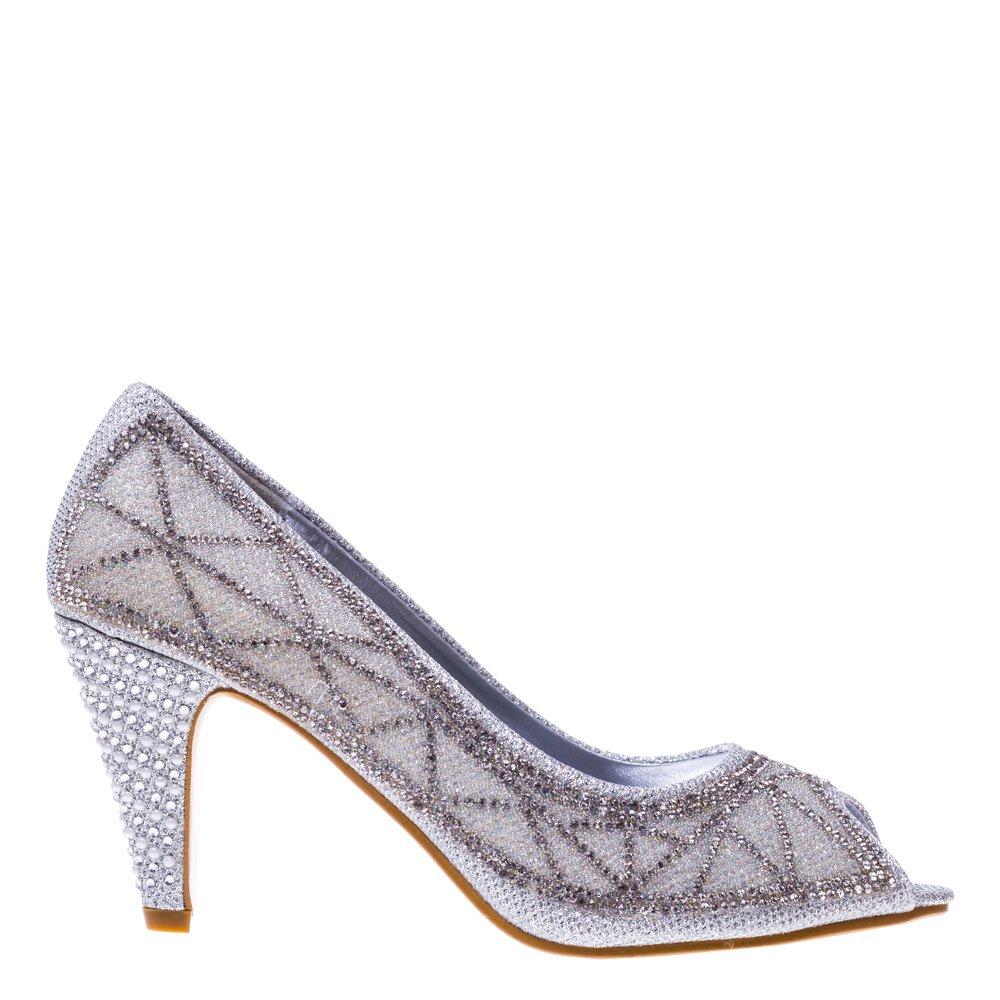 Pantofi dama Goldies argintii