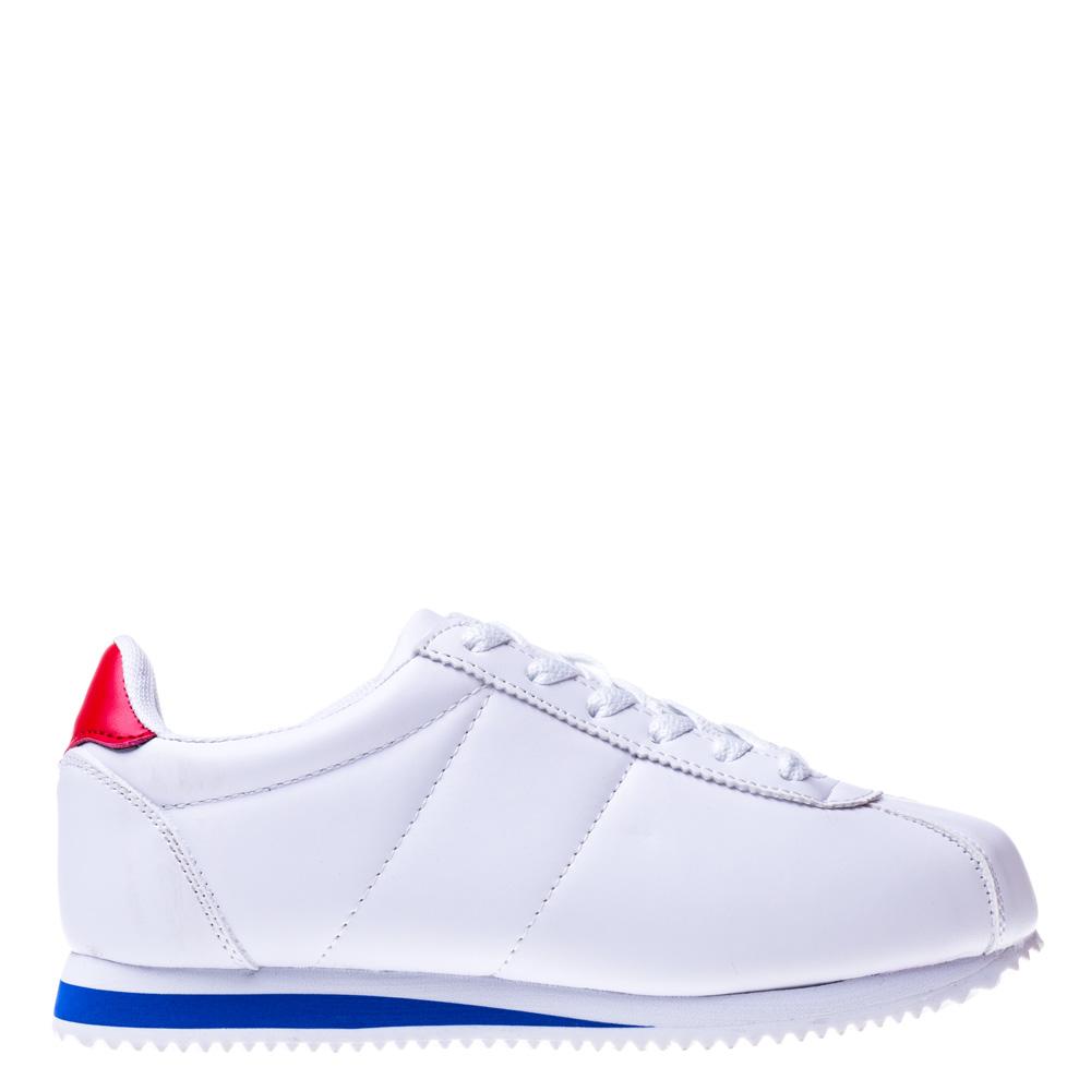 Pantofi sport unisex Kalasity alb cu rosu