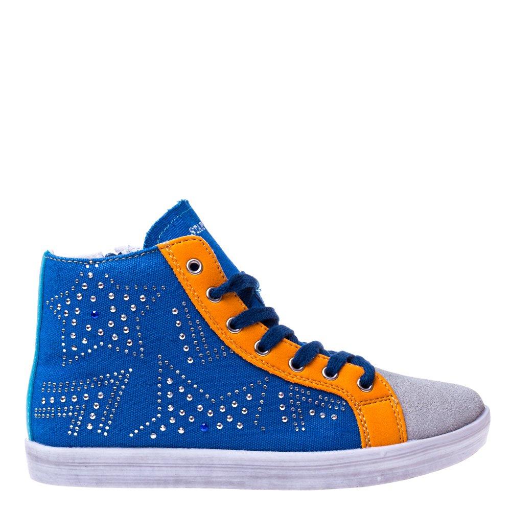 Pantofi sport copii Star 2 albastru cu portocaliu