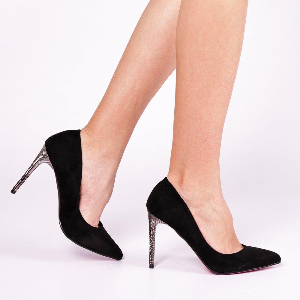 Pantofi dama Anabela negri