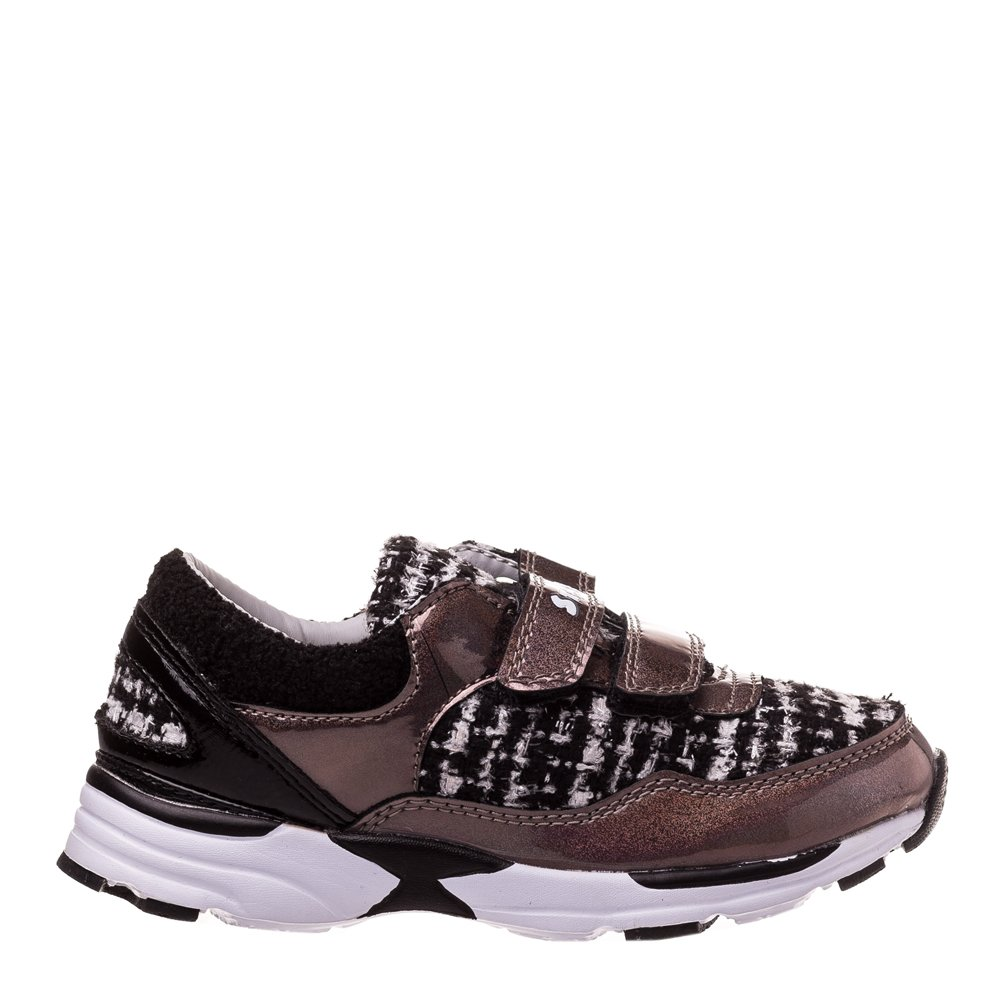 Sneakers copii Flash auriu cu negru