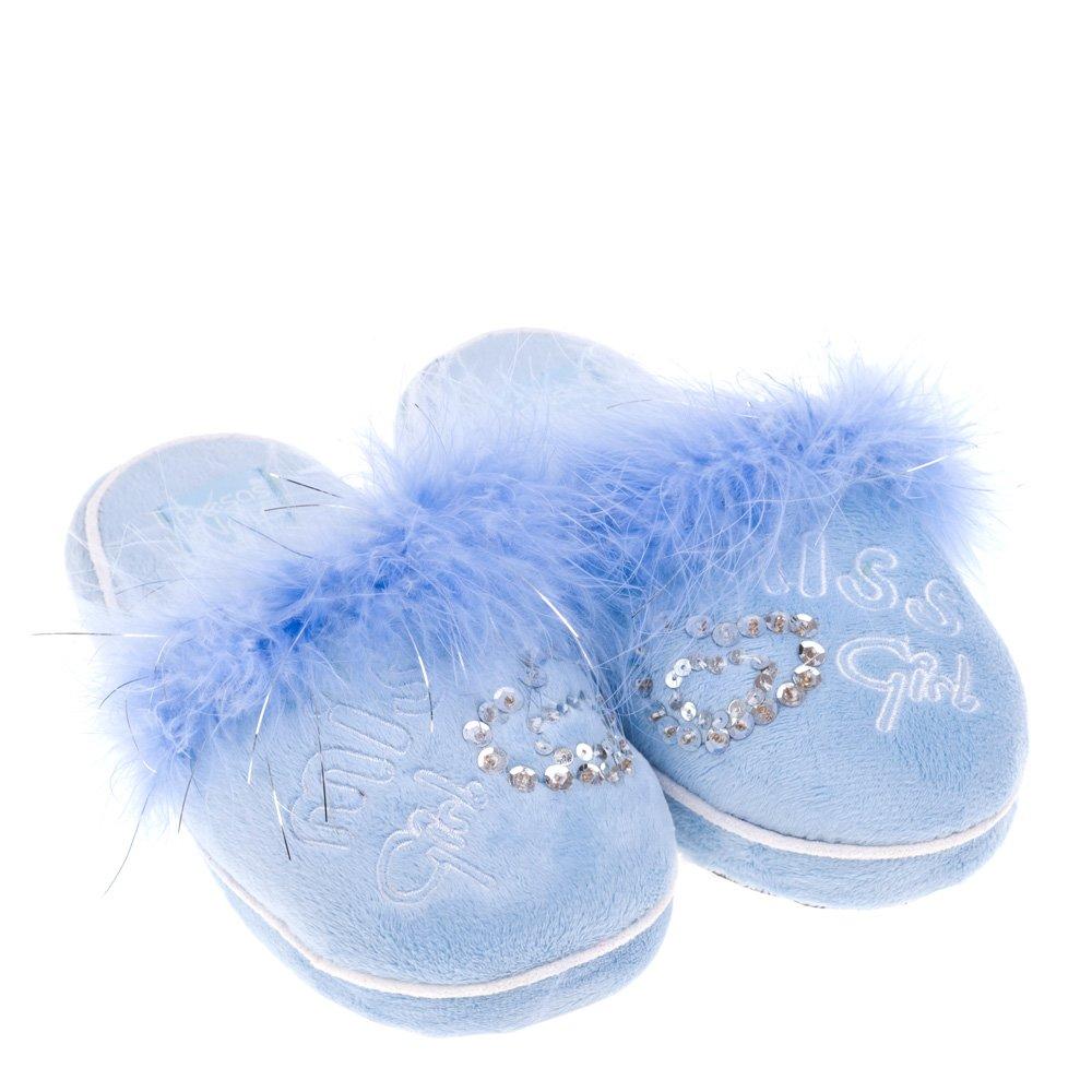 Papuci de casa pentru copii Loona albastri