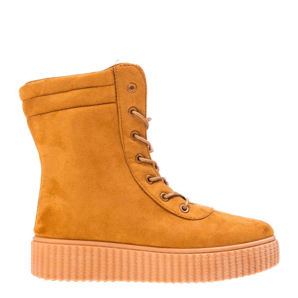 Sneakers dama Abarra camel