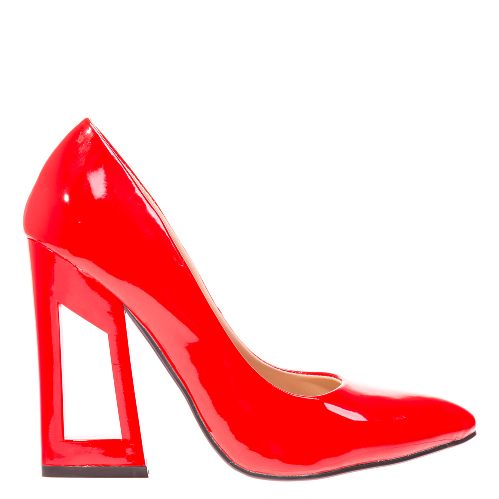 Pantofi stiletto Claudie rosii