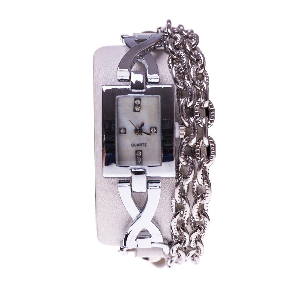 Ceas dama M5-269 argintiu cu alb