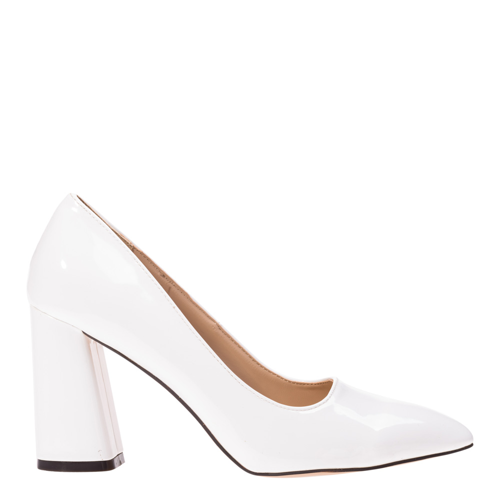Pantofi dama Cezara albi