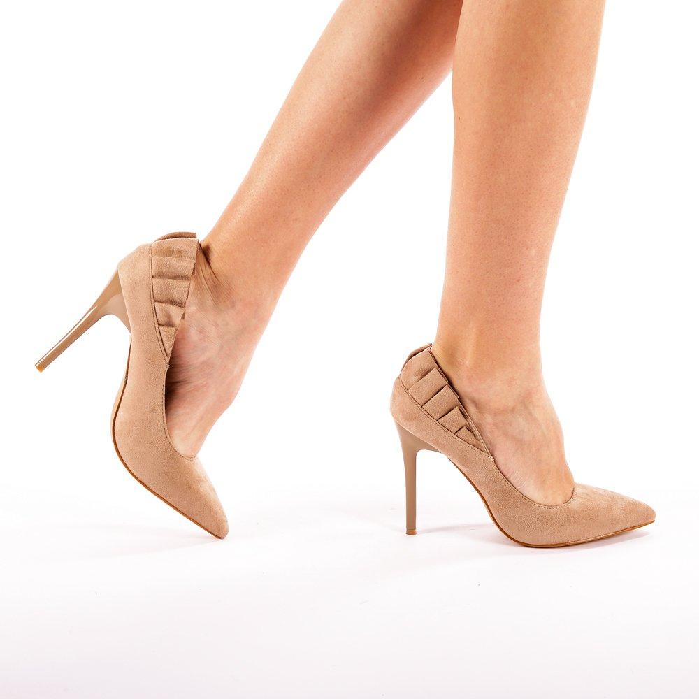 Pantofi cu toc Dalya bej