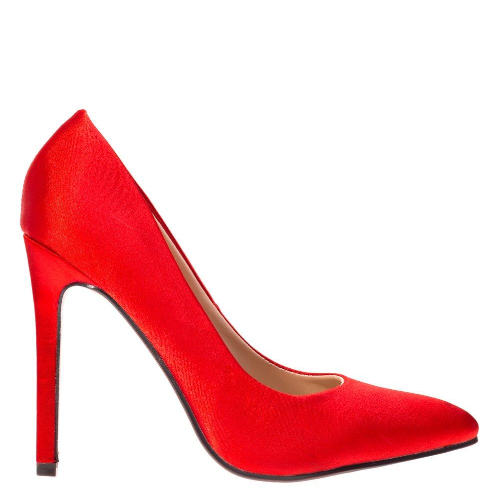 Pantofi stiletto Josephine rosii