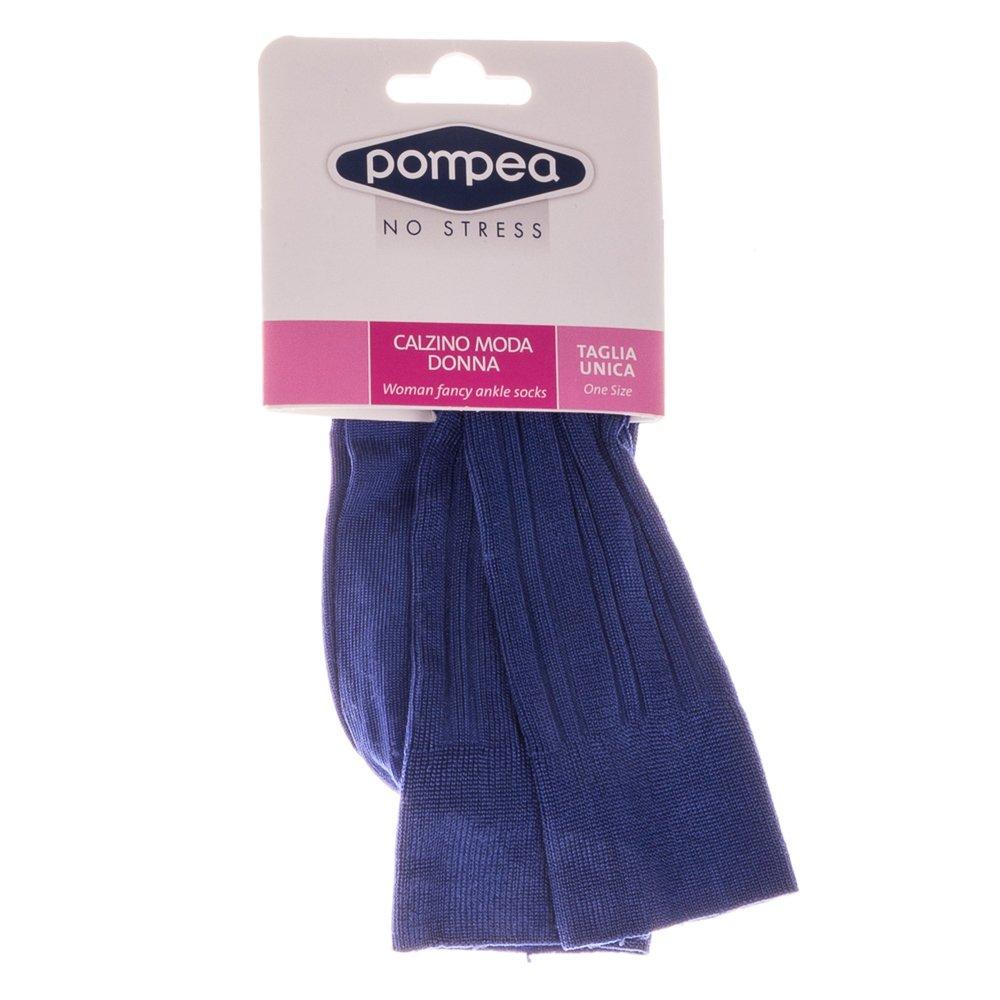 Sosete dama lungi Pompea albastru
