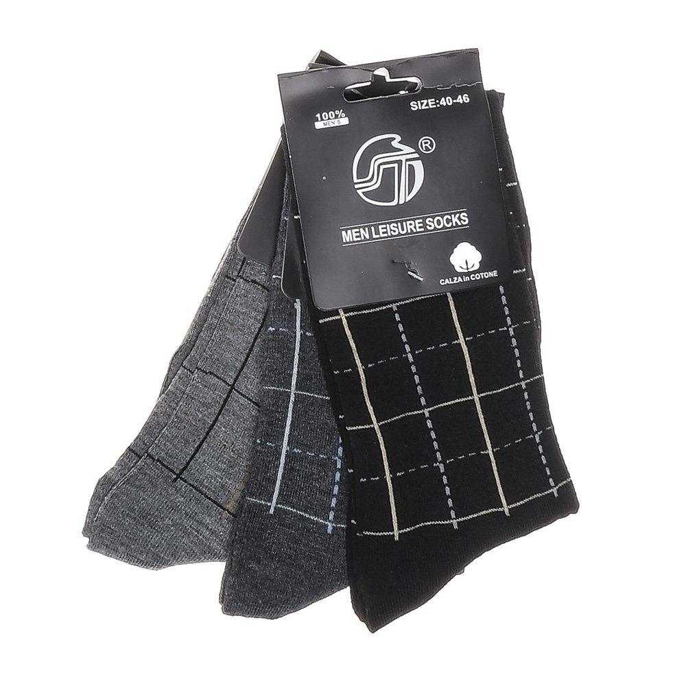 Set 3 perechi sosete barbati E-7042 gri inchis, negre si gri