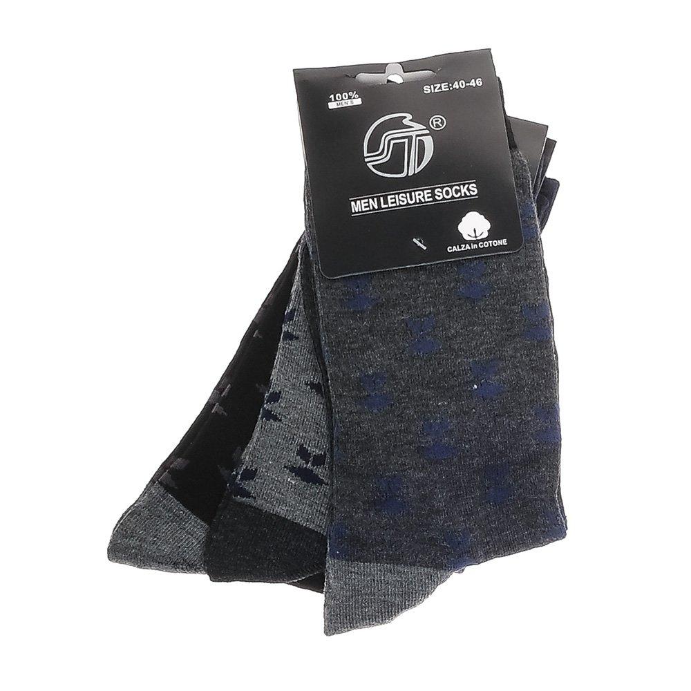 Set 3 perechi sosete barbati E-7043 gri inchis, gri si negre