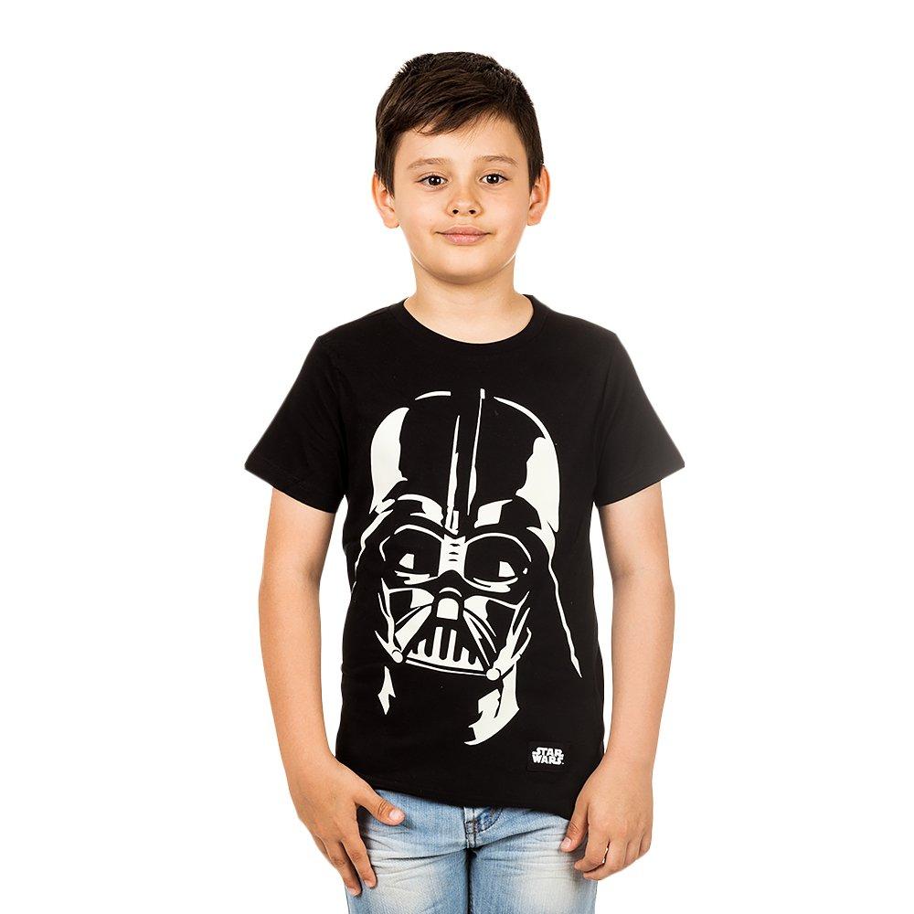 Tricou baieti Star Wars Darth Vader Glow in The Dark negru