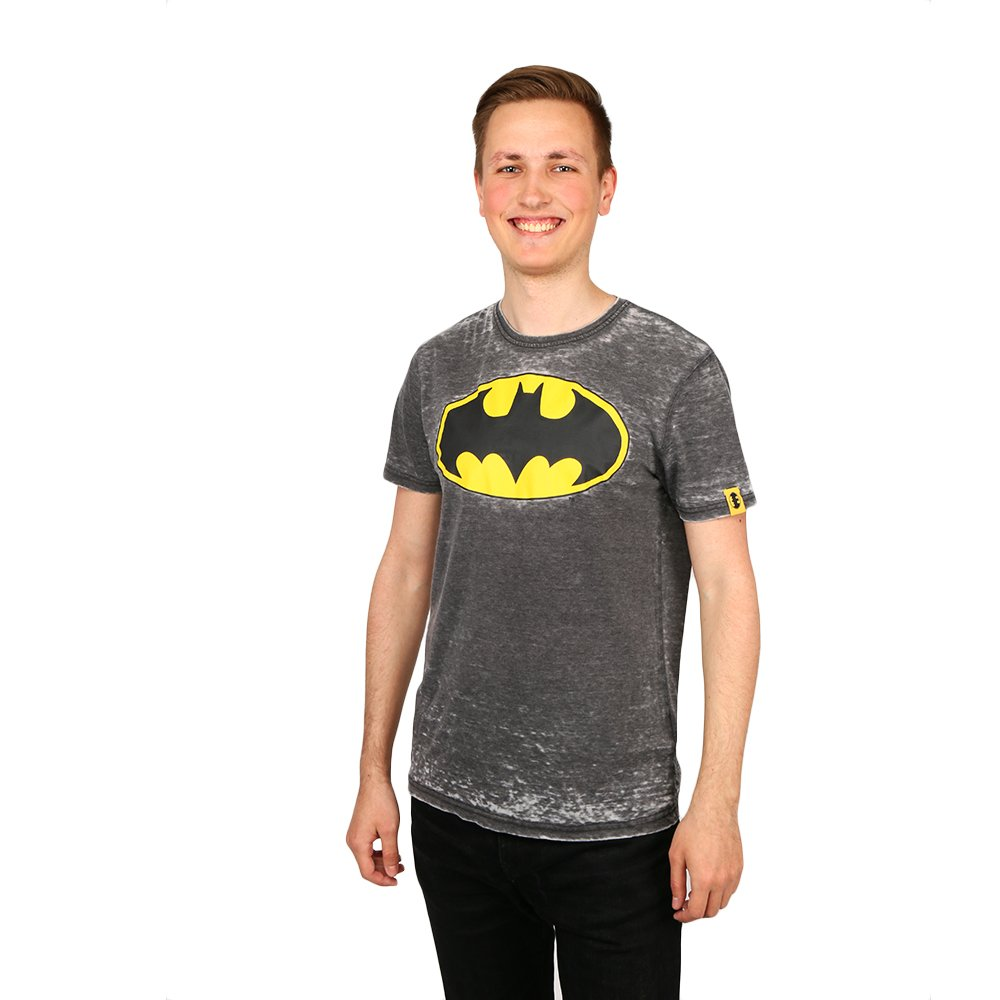 Tricou barbati Batman Logo gri