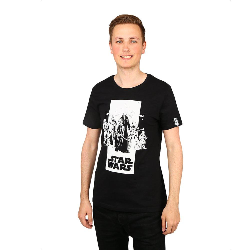 Tricou barbati Star Wars Sith Attack negru cu imprimeu alb