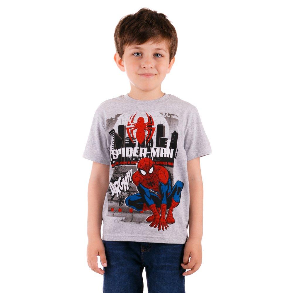 Tricou baieti Spider-man Arghh Gri deschis