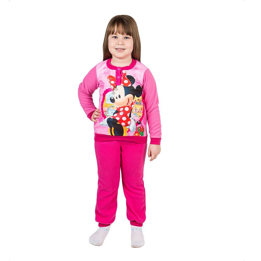 Pijama fete Minnie Mouse Preety roz cu pantaloni fucsia