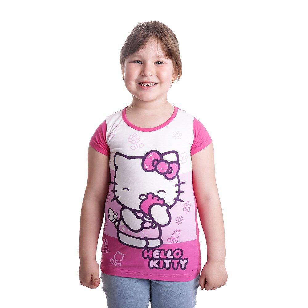 Tricou maneca scurta fete Hello Kitty roz