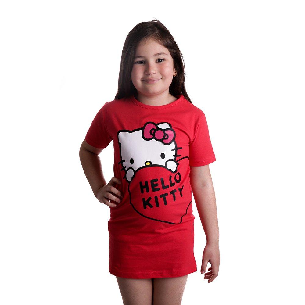 Tricou lung cu maneca scurta fete Hello Kitty rosu