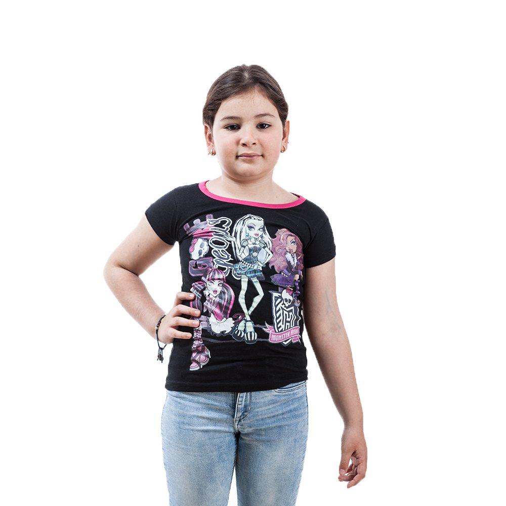 Tricou maneca scurta fete Monster High negru