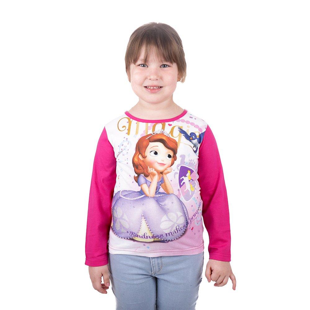 Tricou maneca lunga fete Printesa Sofia roz